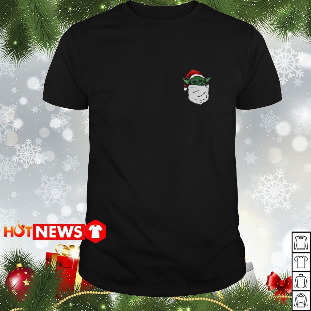 Santa Yoda in the pocket Christmas Guys shirt
