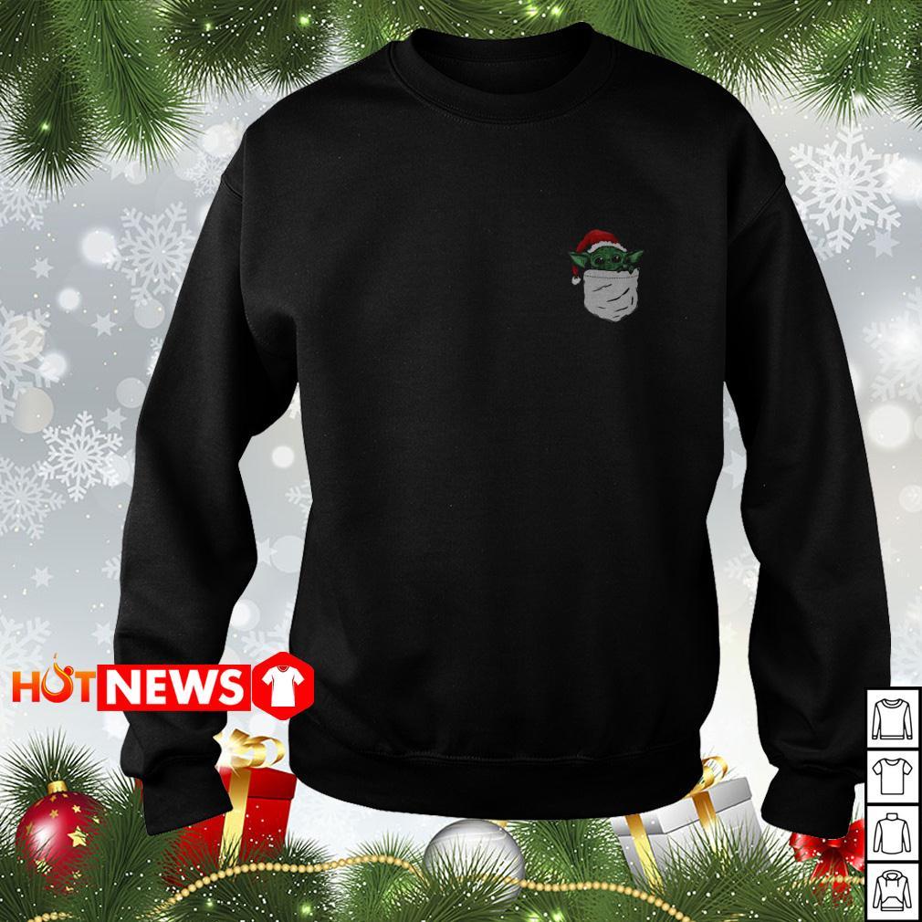 Santa Yoda in the pocket Christmas sweater