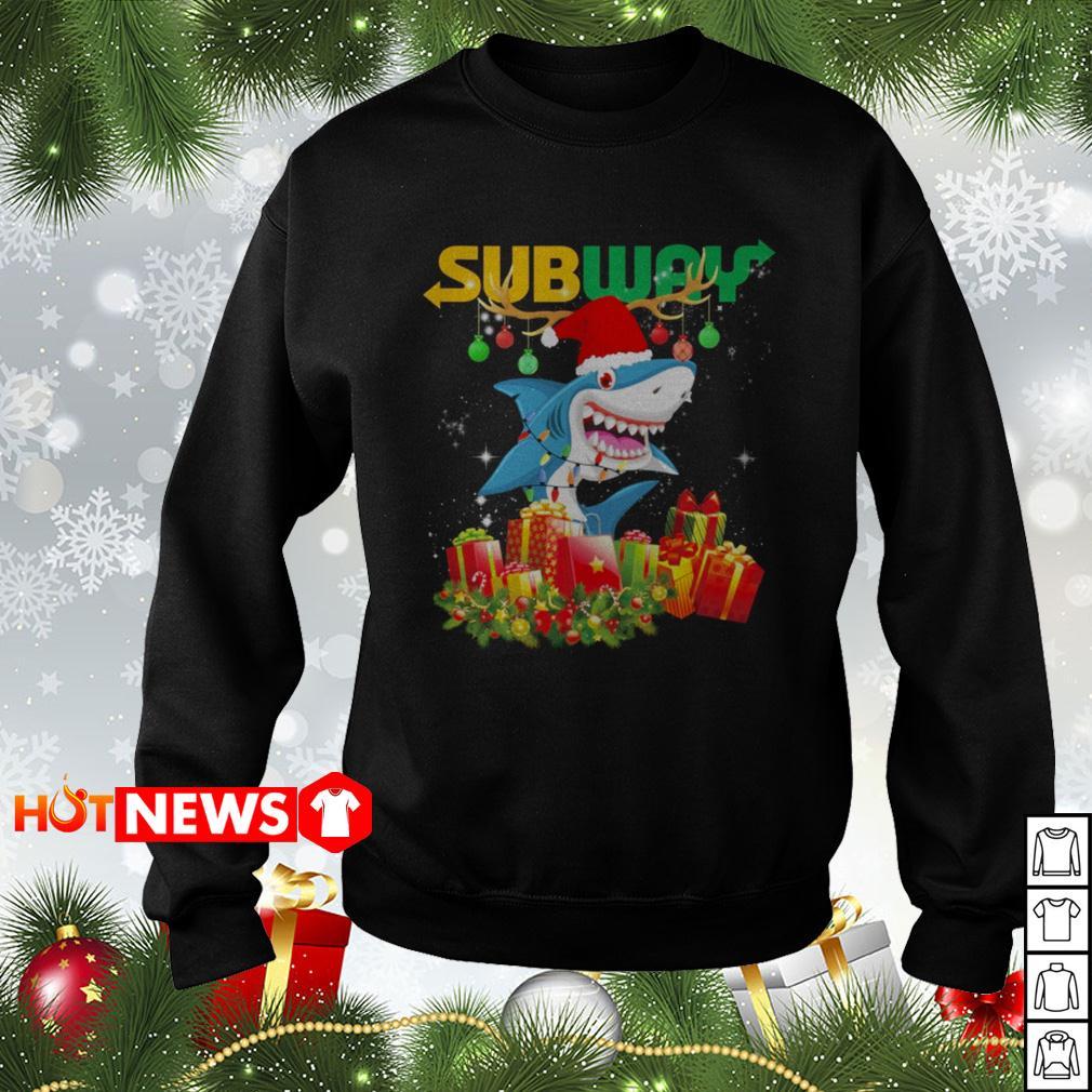 Shark Santa Doo Doo Doo subway Christmas sweater