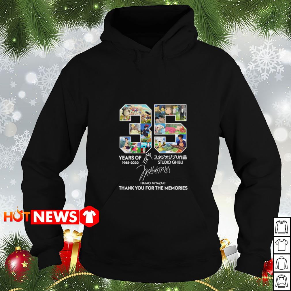 35 years of Studio Ghibli 1985 2020 thank you for the memories signature Hoodie