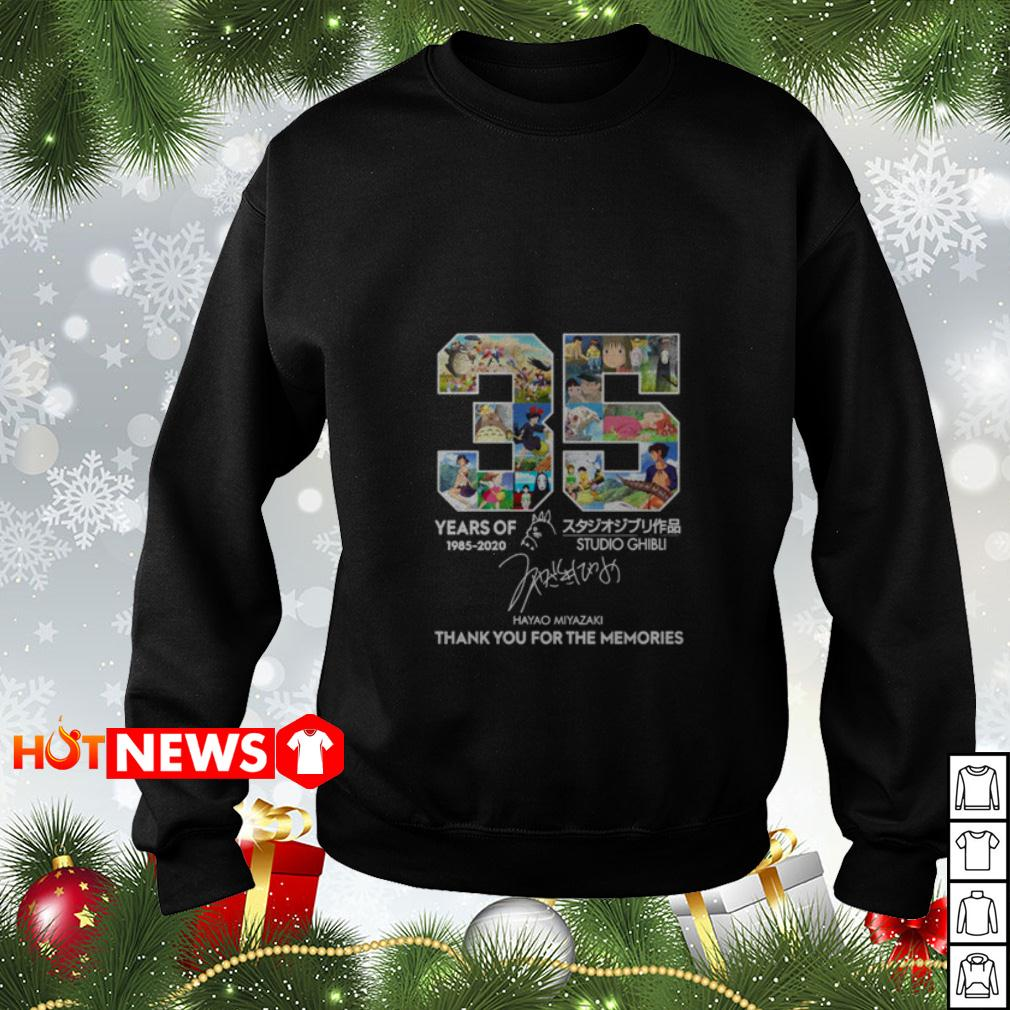 35 years of Studio Ghibli 1985 2020 thank you for the memories signature Sweater