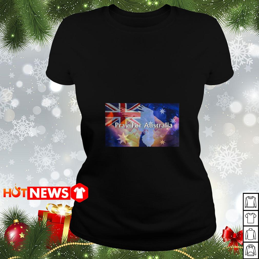 4th of July independence Pray For Australia Ladies tee