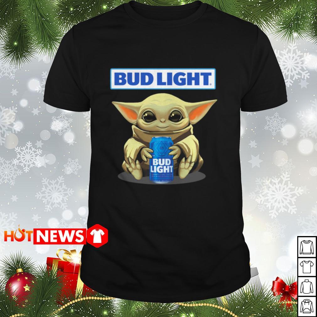 Baby Yoda hugging Bud Light shirt