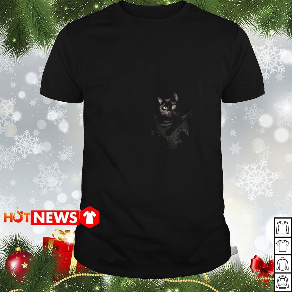 Black Cat in the pocket shirt