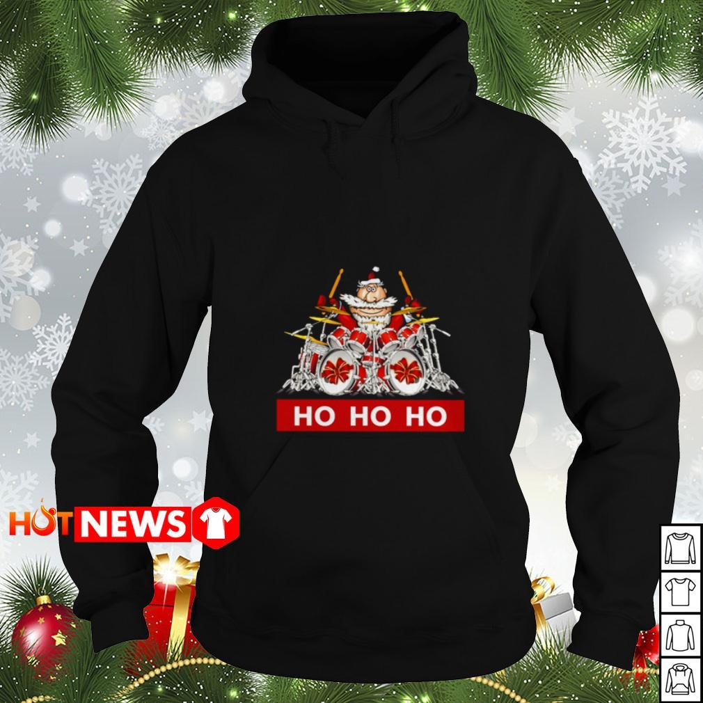 HO HO HO Santa Claus playing drum Hoodie