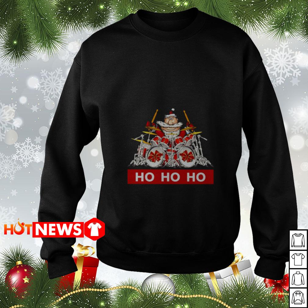 HO HO HO Santa Claus playing drum Sweater
