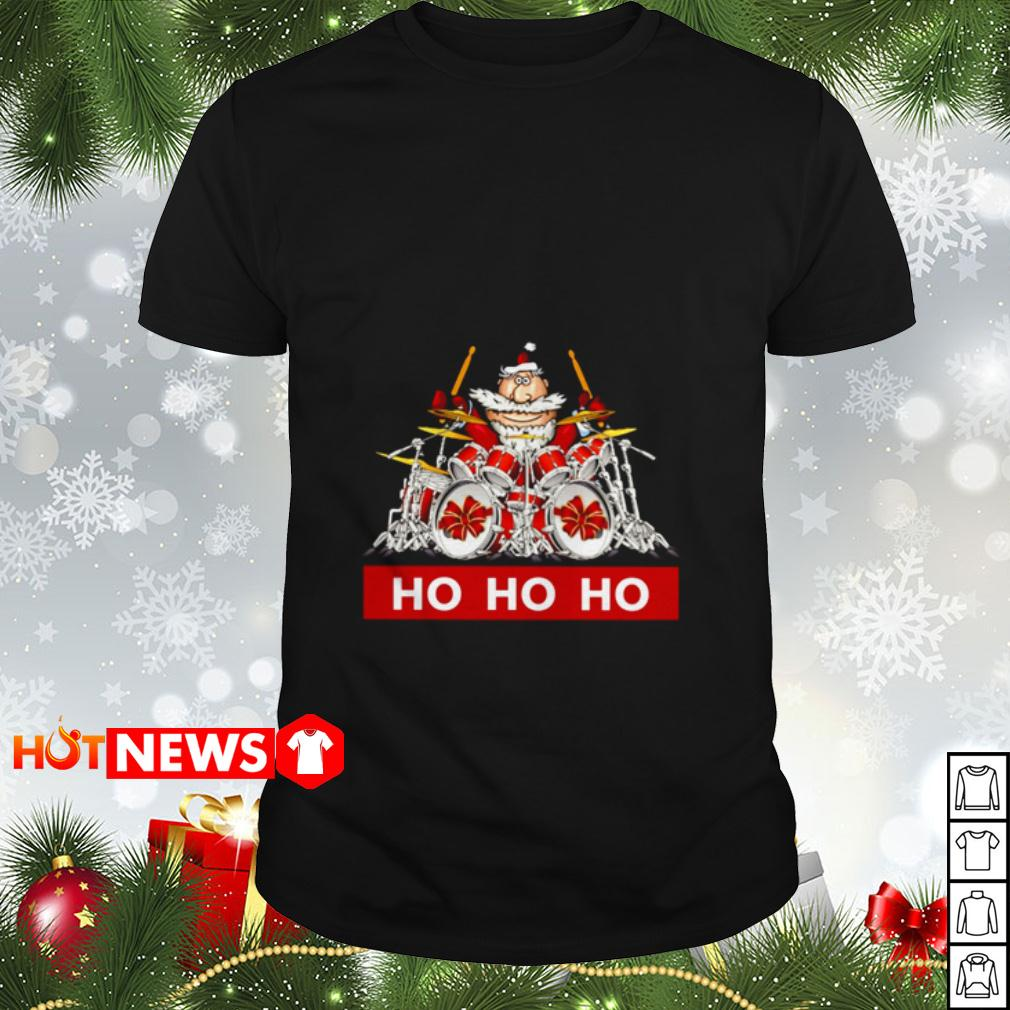 HO HO HO Santa Claus playing drum shirt