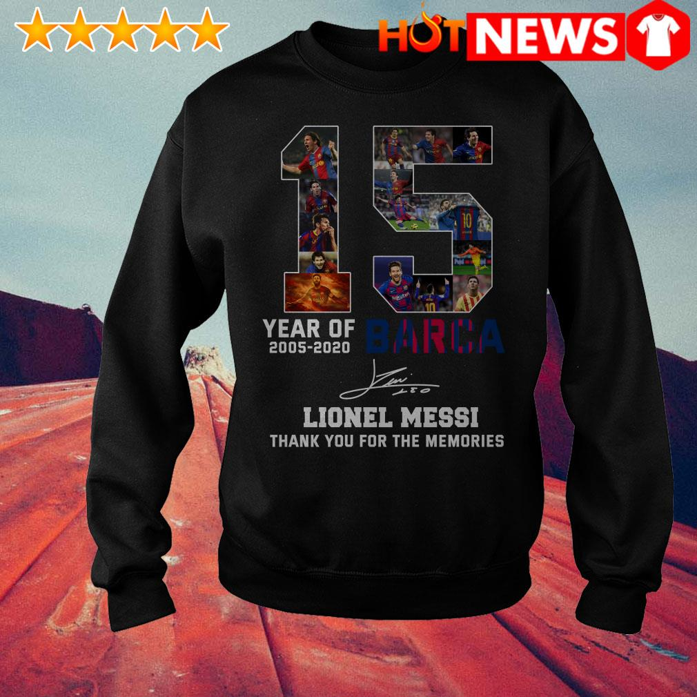 15 Year of 2005-2020 Barca Lionel Messi thank you for the memories Sweater