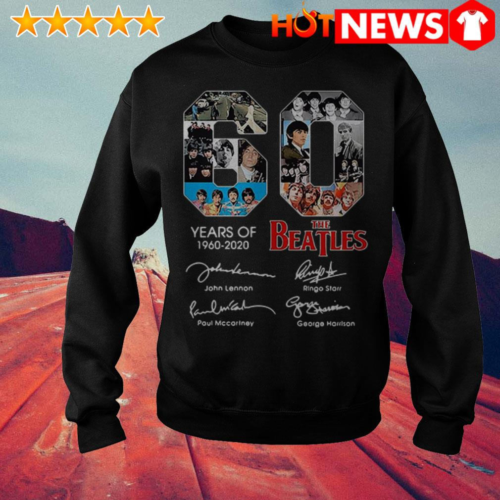 60 Years of The Beatles 1960-2020 signatures Sweater
