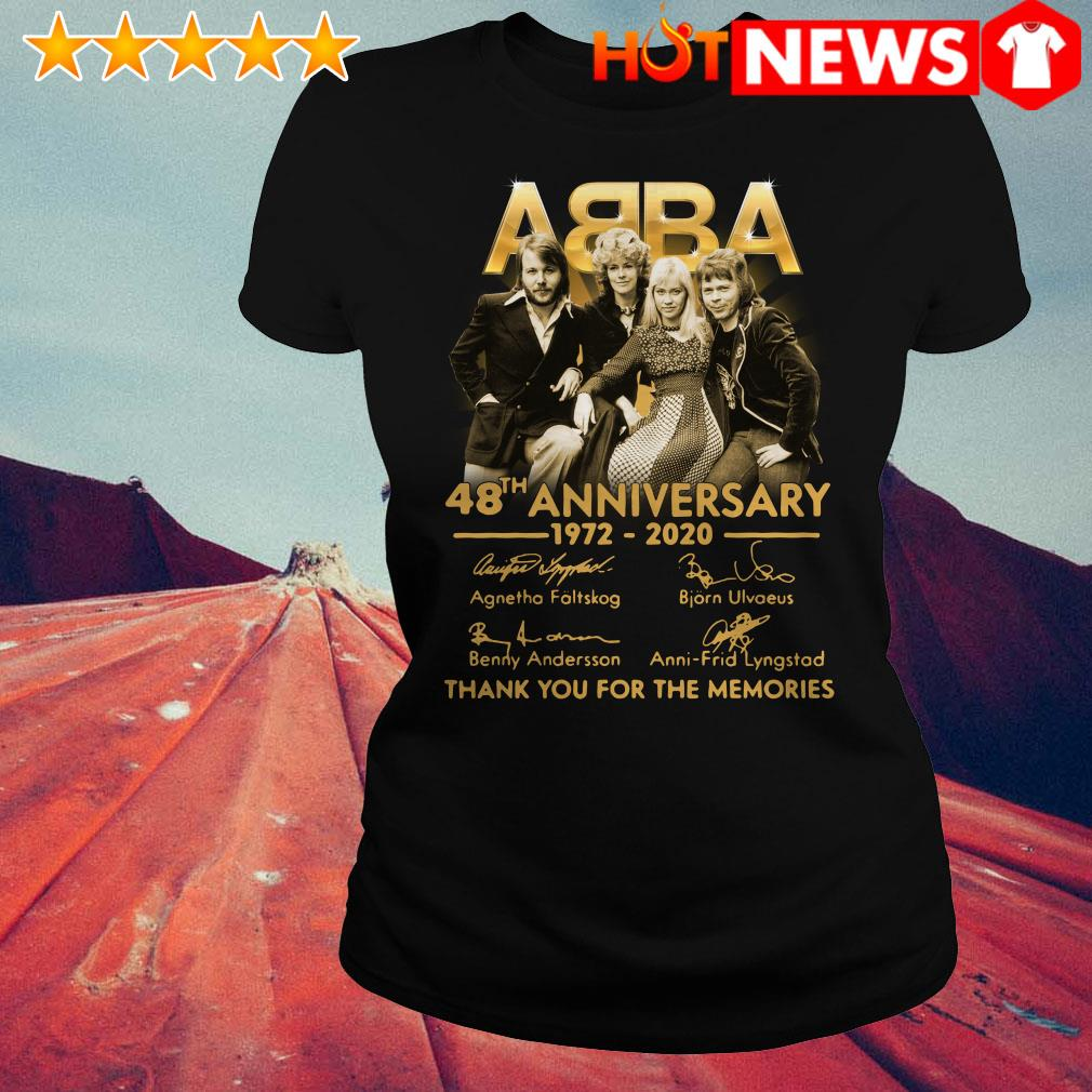 ABBA 48th anniversary 1972 2020 thank you for the memories Ladies Tee