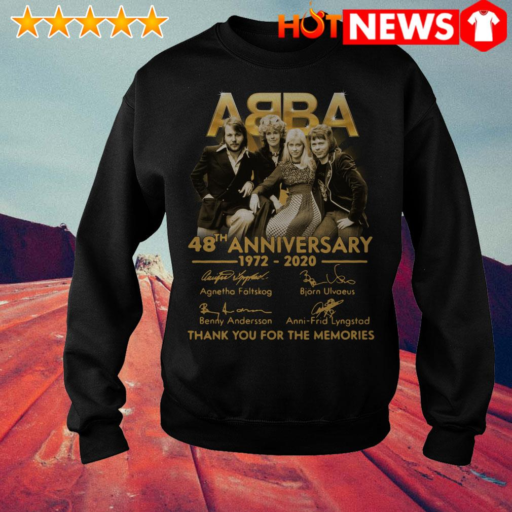 ABBA 48th anniversary 1972 2020 thank you for the memories Sweater