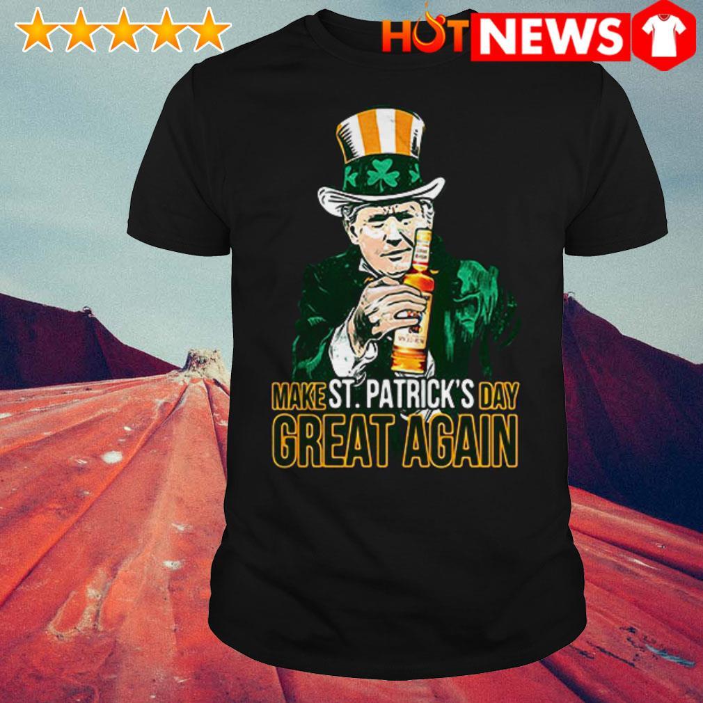 Donald Trump and Captain Morgan make St Patrick's day great again shirt