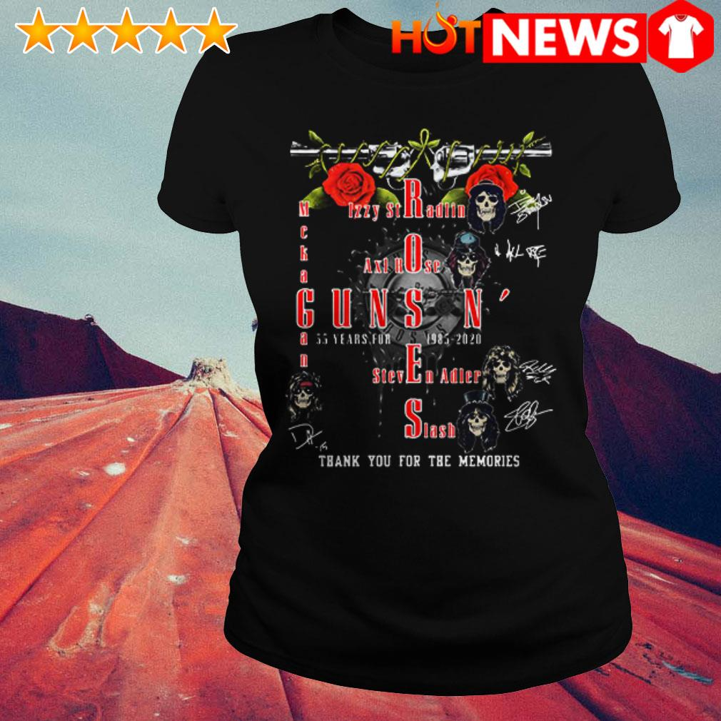 Guns N' Roses 35 years for 1985 2020 thank you for the memories Ladies Tee