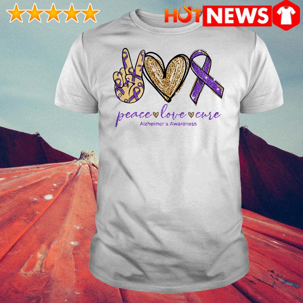 Peace love cure Alzheimer's Awareness shirt