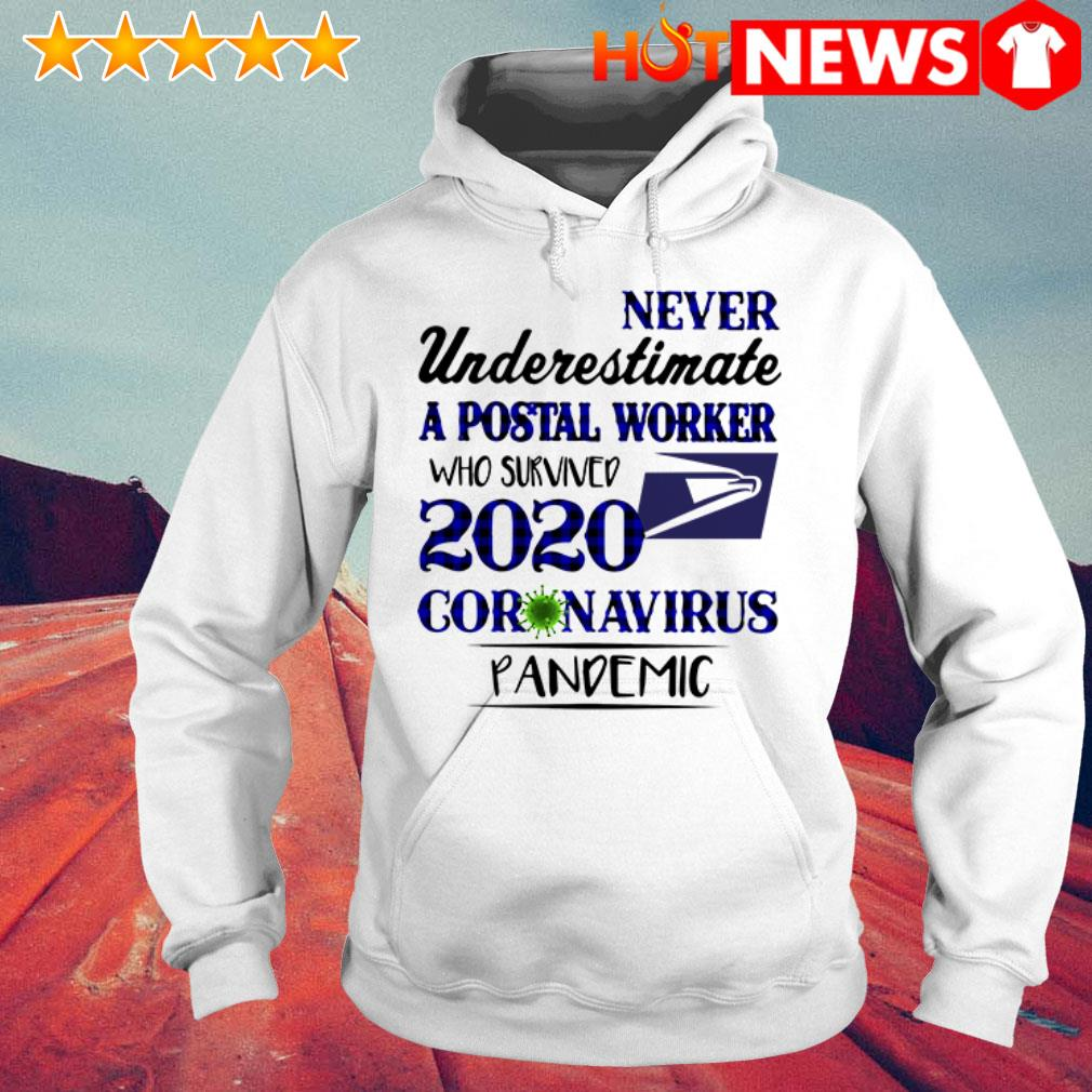 2020 Coronavirus Pandemic never underestimate a postal worker who survived Hoodie