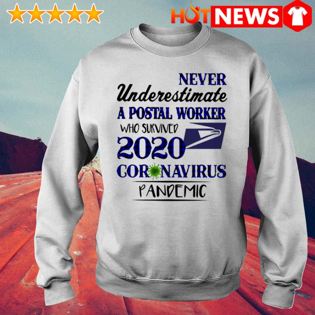 2020 Coronavirus Pandemic never underestimate a postal worker who survived Sweater