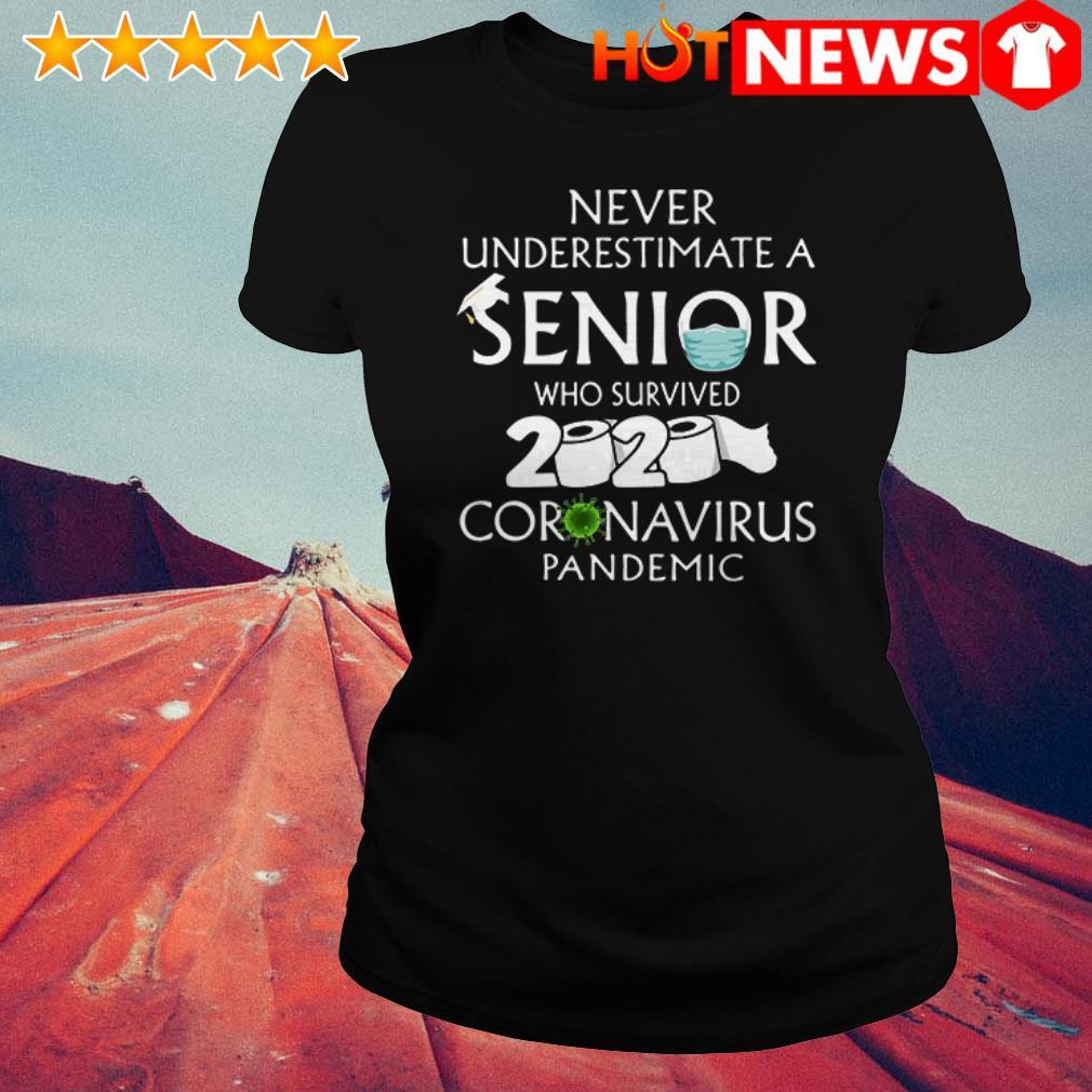 2020 Coronavirus Pandemic Never underestimate a senior Toilet Paper Ladies Tee