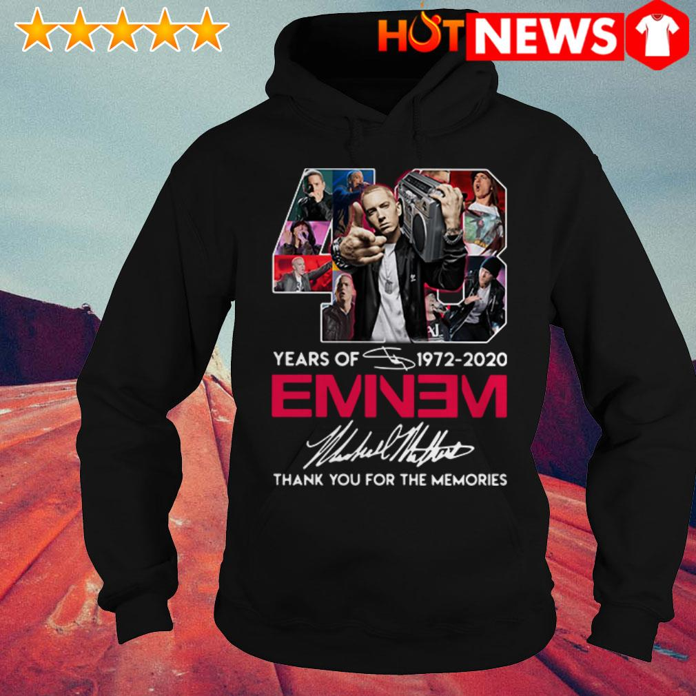 48 Years of Eminem 1972-2020 thank you for the memories signature Hoodie