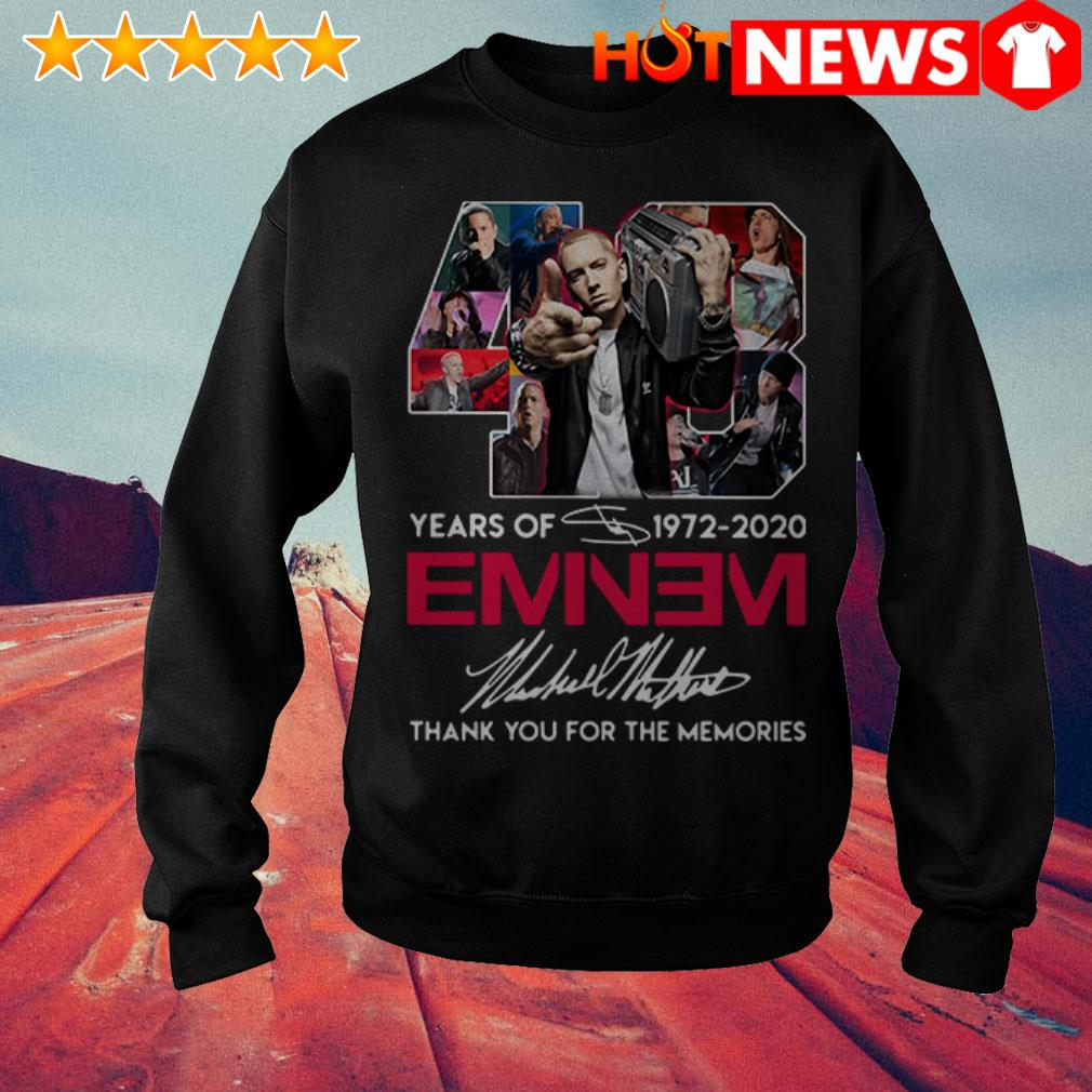 48 Years of Eminem 1972-2020 thank you for the memories signature Sweater