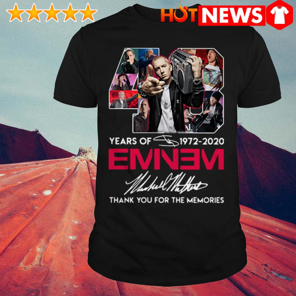 48 Years of Eminem 1972-2020 thank you for the memories signature shirt