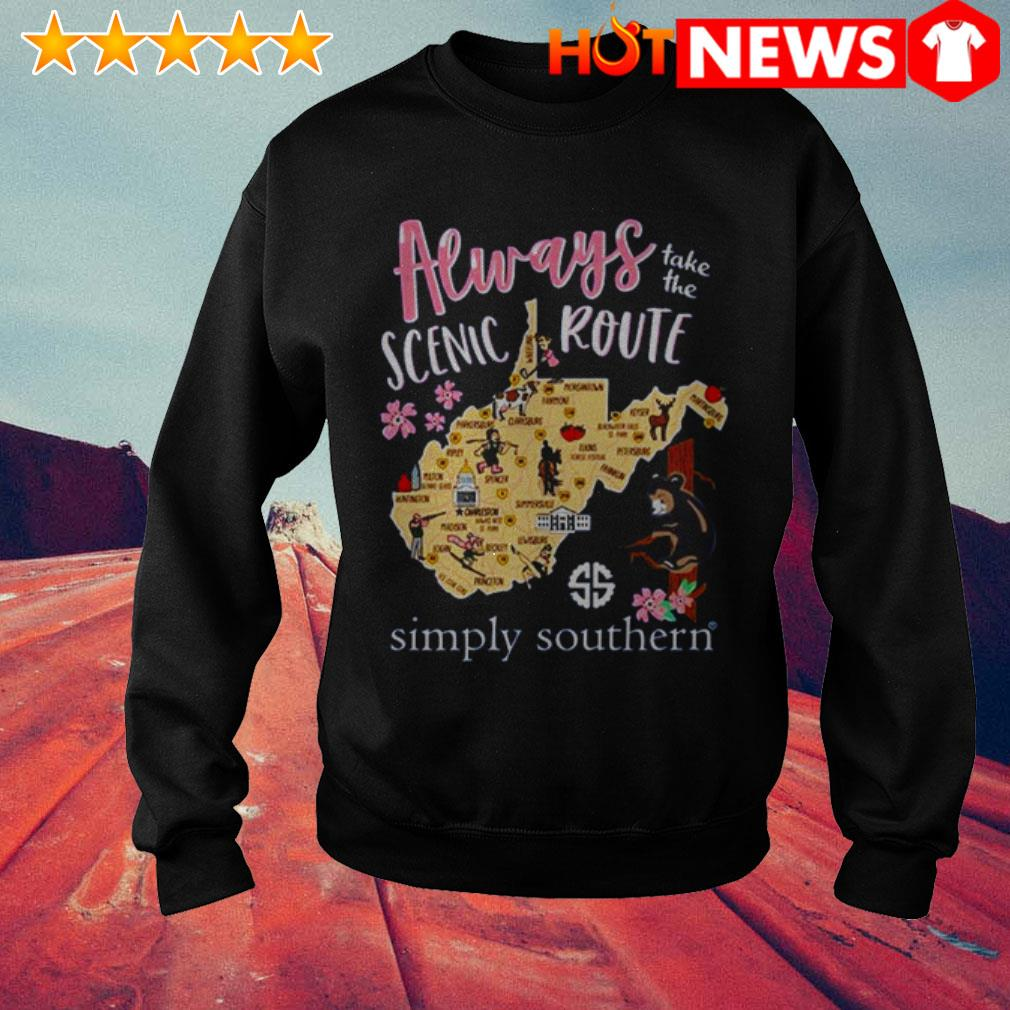 Always take the scenic route simply Southern West Virginia Sweater