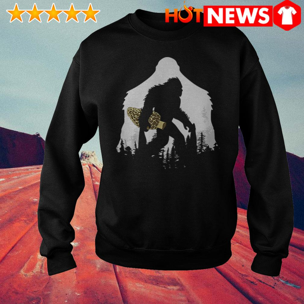 Awesome Bigfoot with Morel mushroom Sweater