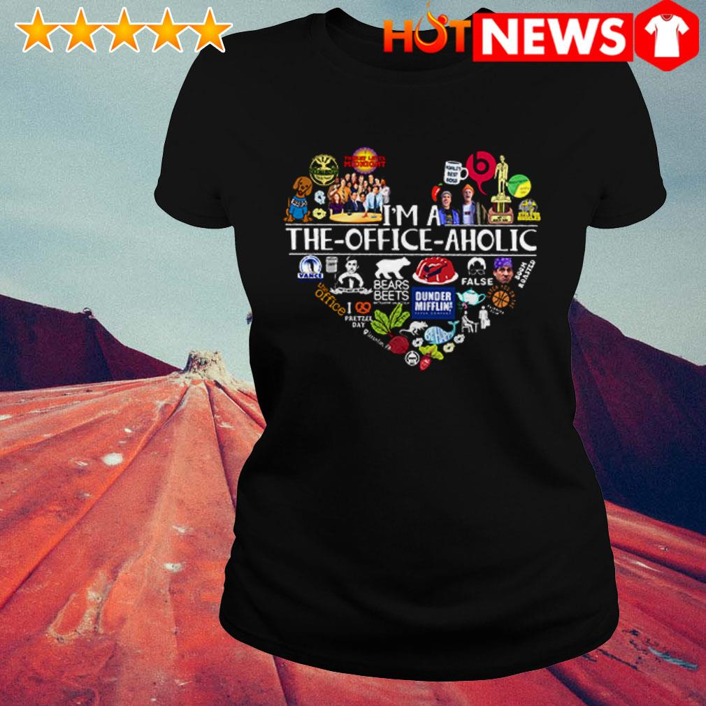 Awesome Heart I'm a the Office aholic Ladies Tee
