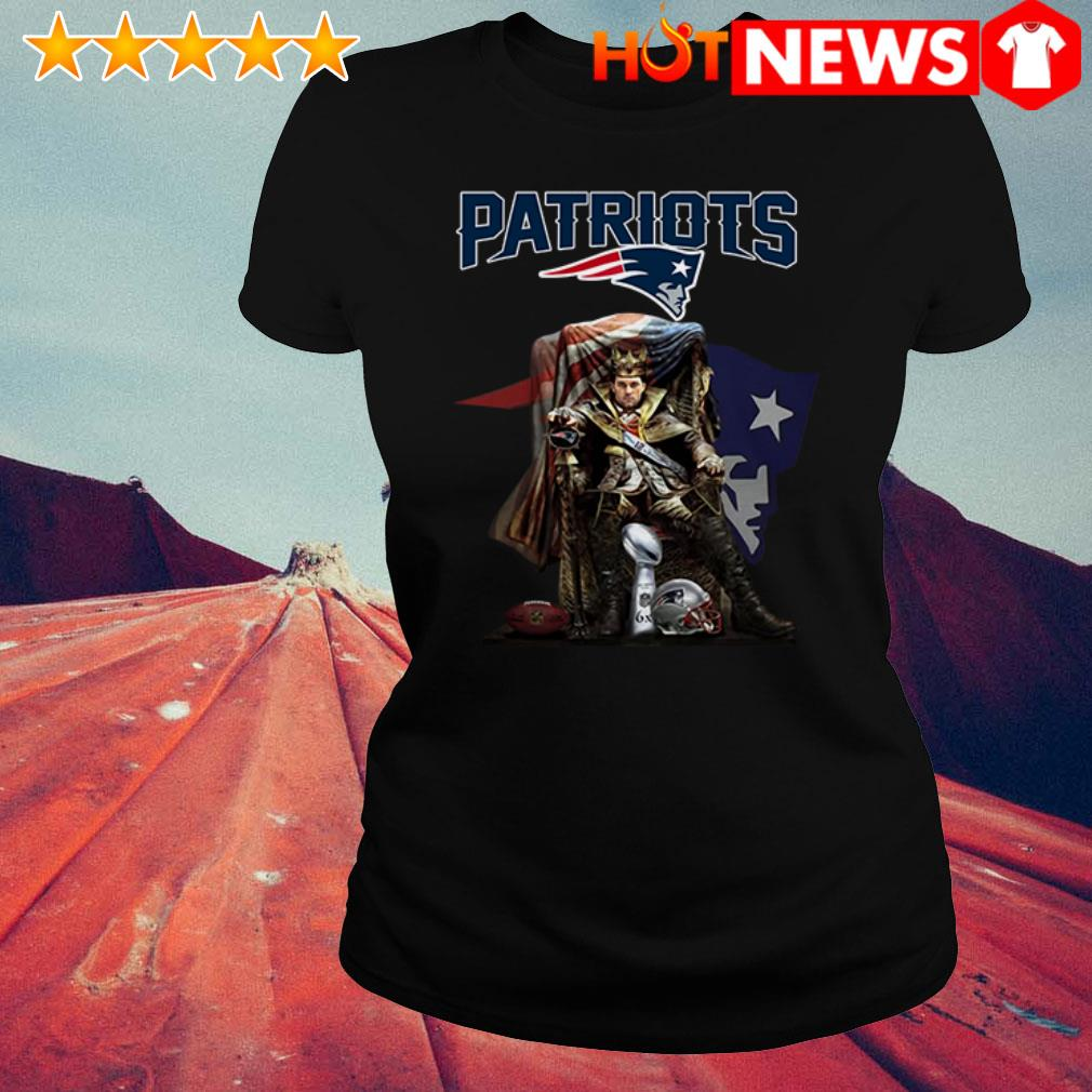 Awesome King of North Tom Brady New England Patriots signature Ladies Tee