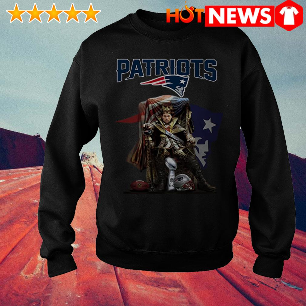 Awesome King of North Tom Brady New England Patriots signature Sweater