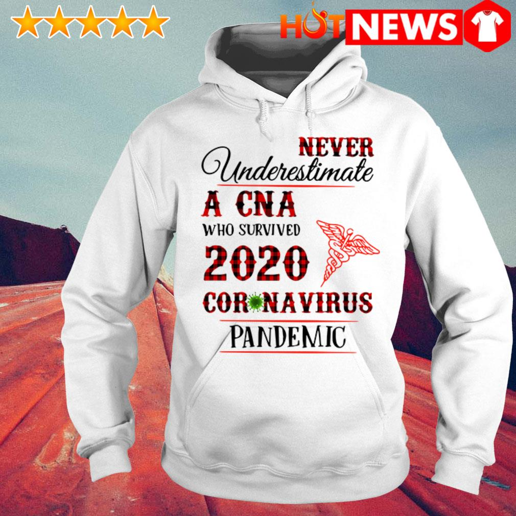Awesome Never underestimate a CNA 2020 Coronavirus pandemic Hoodie