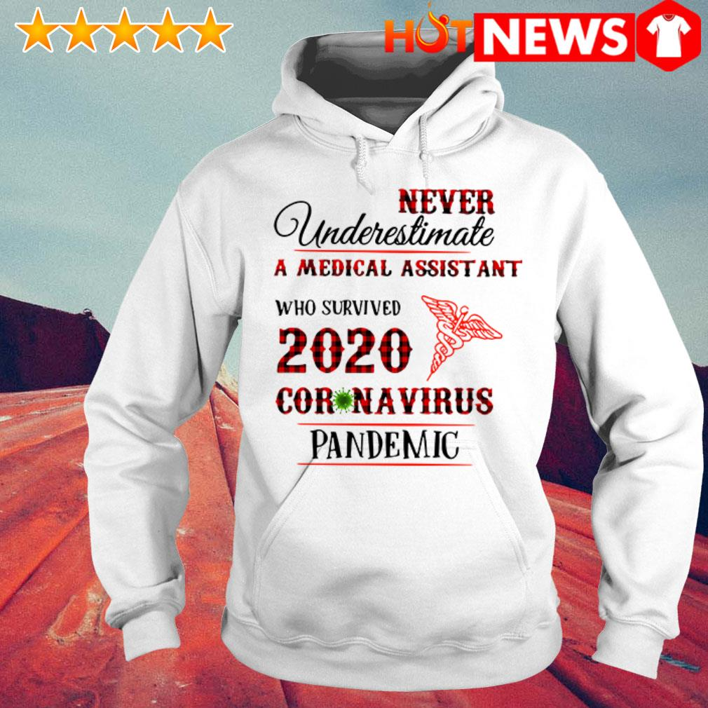 Awesome Never underestimate a medical assistant 2020 Coronavirus pandemic Hoodie