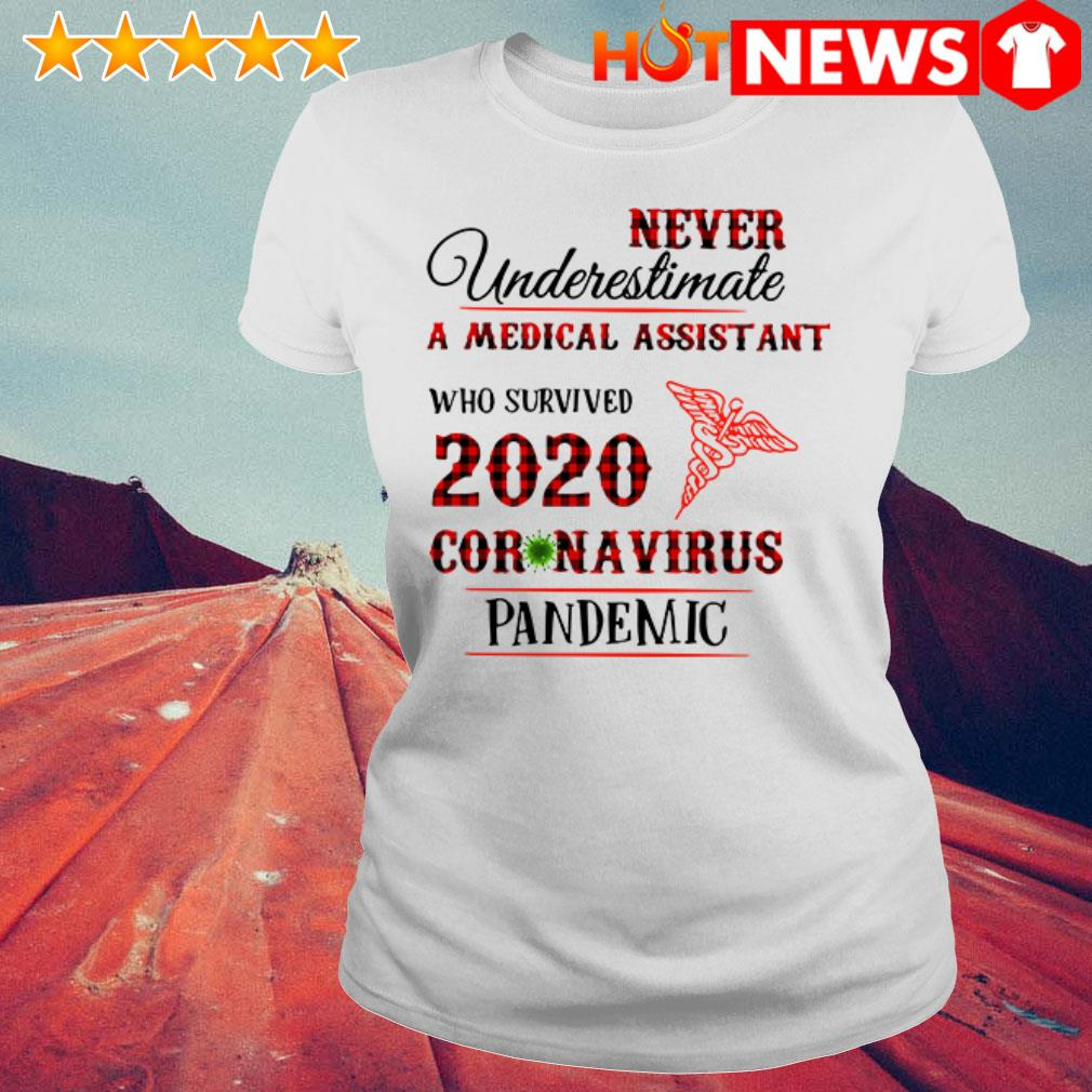 Awesome Never underestimate a medical assistant 2020 Coronavirus pandemic Ladies Tee