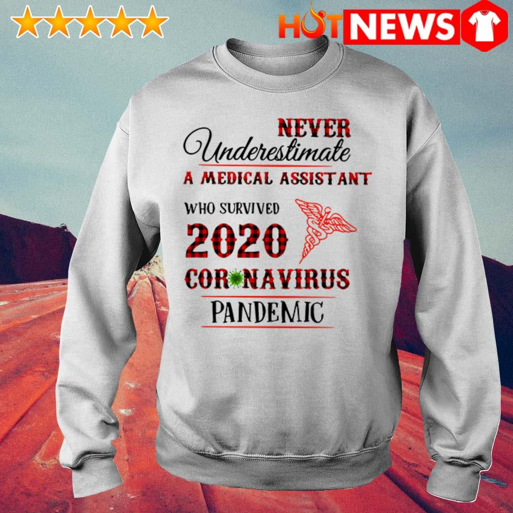 Awesome Never underestimate a medical assistant 2020 Coronavirus pandemic Sweater