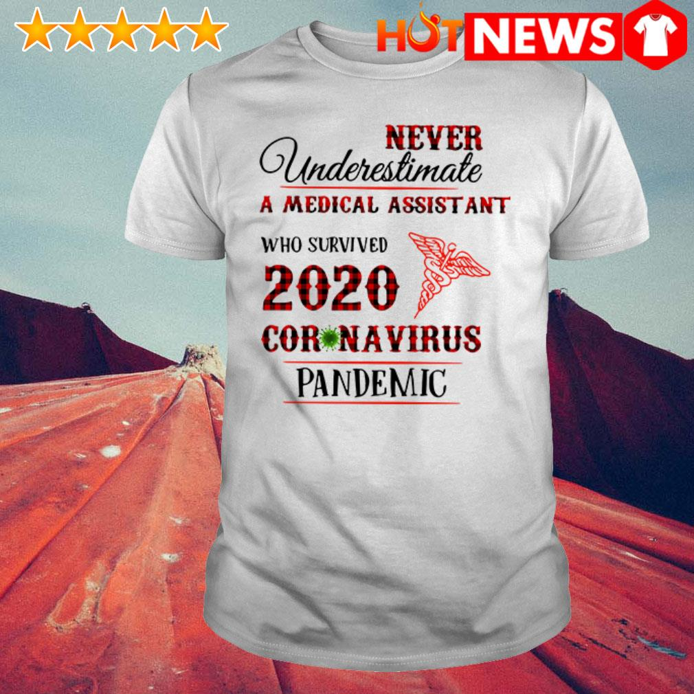 Awesome Never underestimate a medical assistant 2020 Coronavirus pandemic shirt
