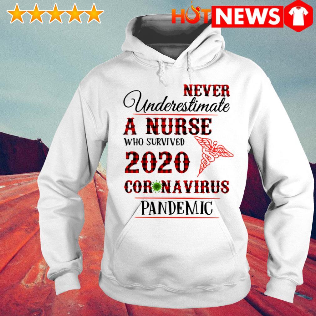Awesome Never underestimate a nurse 2020 Coronavirus pandemic Hoodie