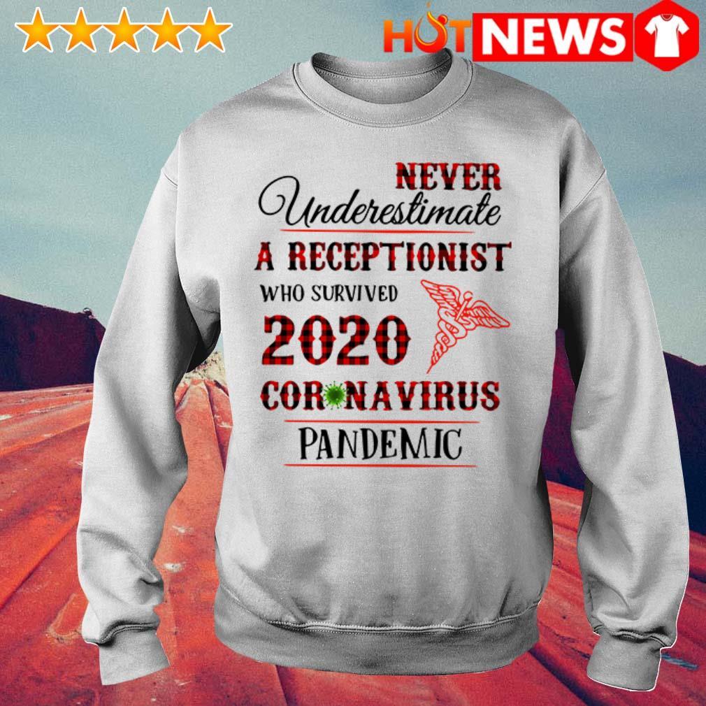Awesome Never underestimate a receptionist 2020 Coronavirus pandemic Sweater