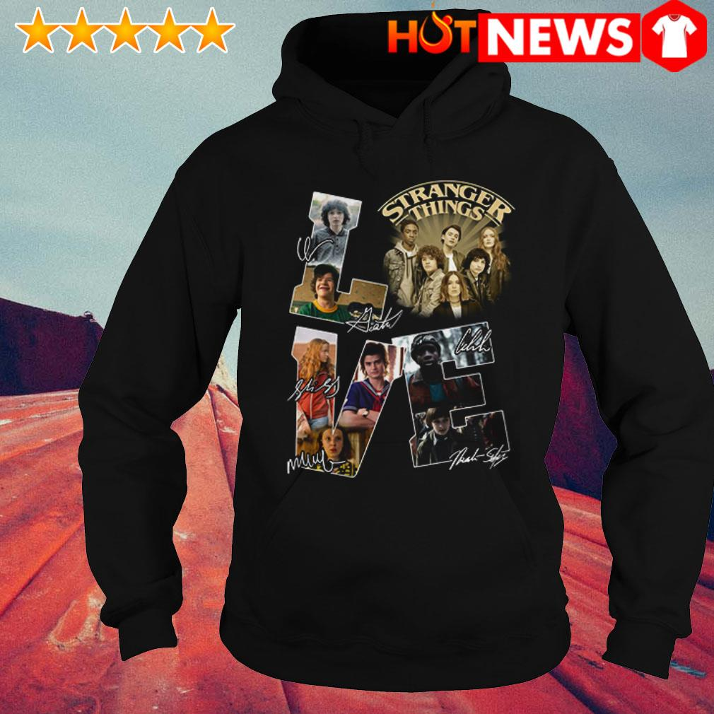 Awesome Stranger things love signature Hoodie