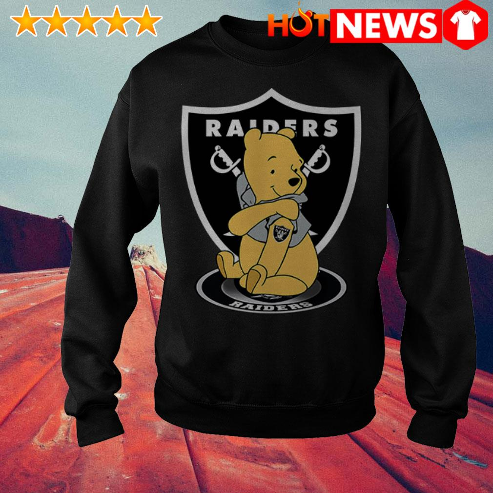 Awesome Winnie the Pooh tattoos Oakland Raiders Sweater