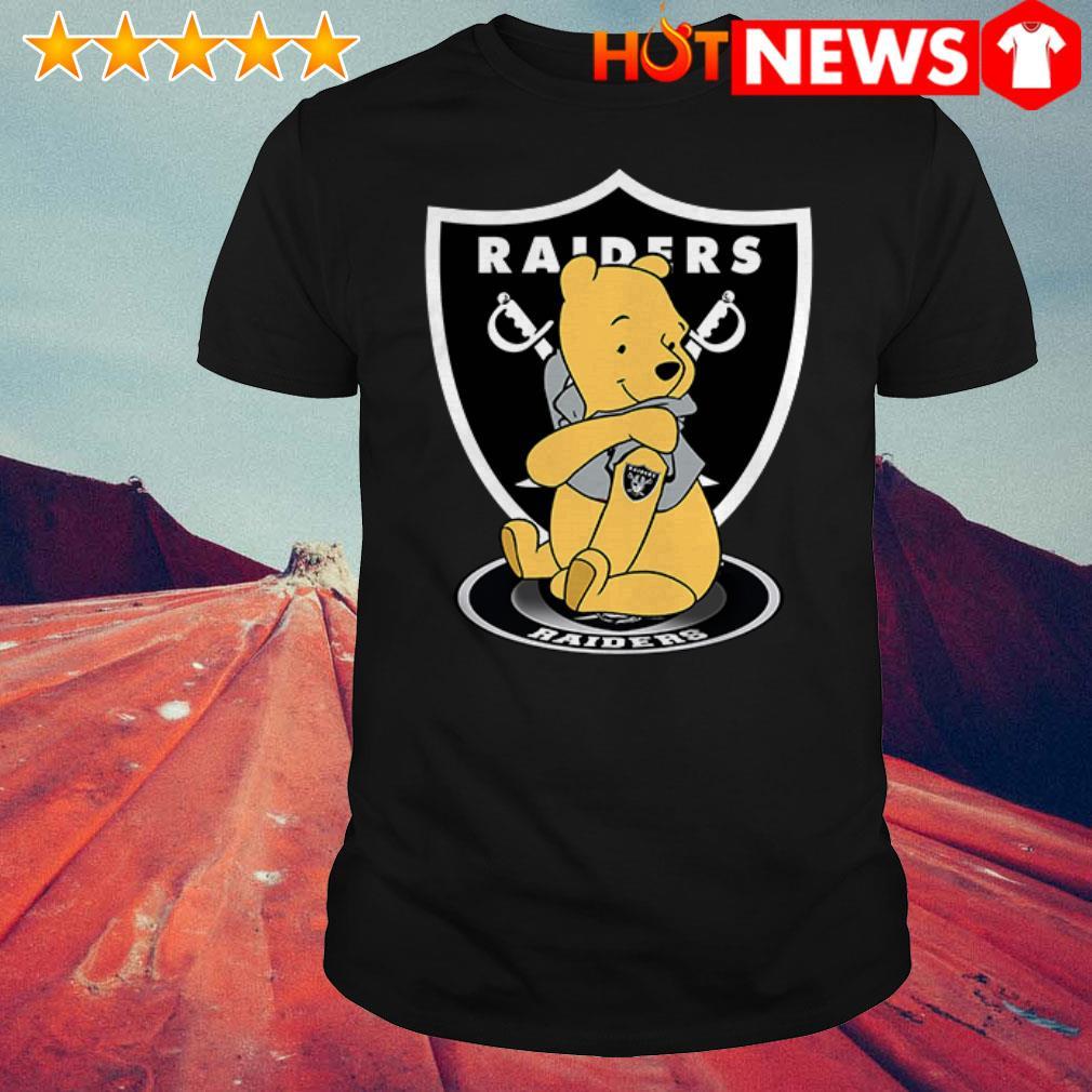 Awesome Winnie the Pooh tattoos Oakland Raiders shirt