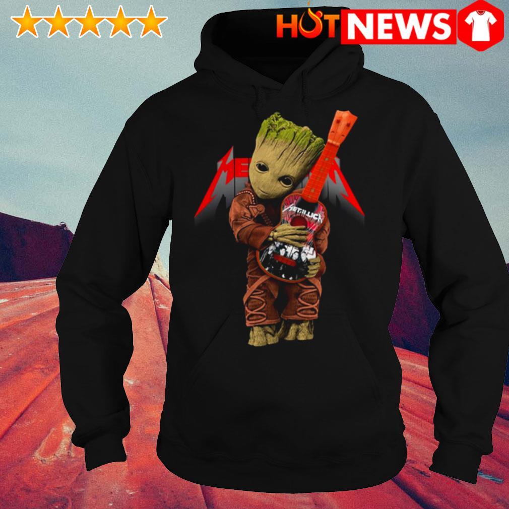 Baby Groot hug Metallica Guitar Hoodie