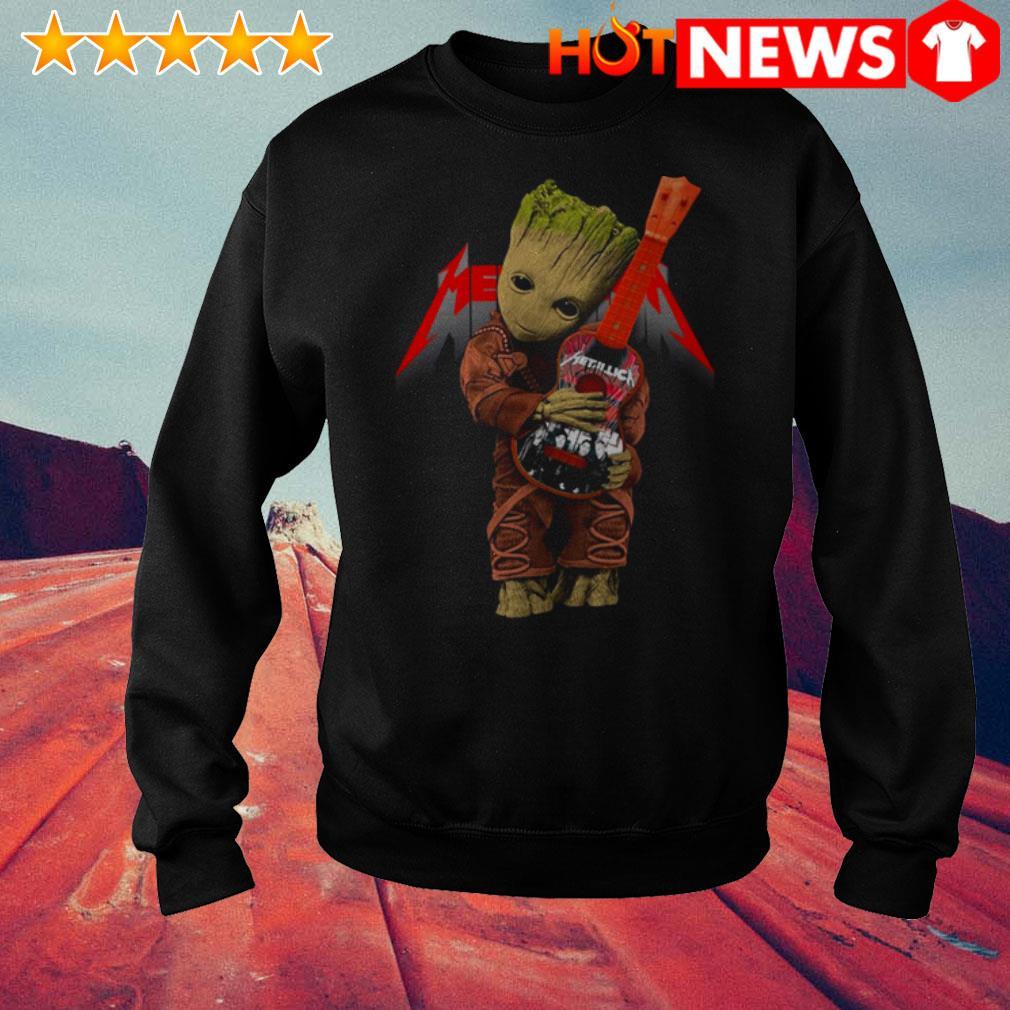 Baby Groot hug Metallica Guitar Sweater