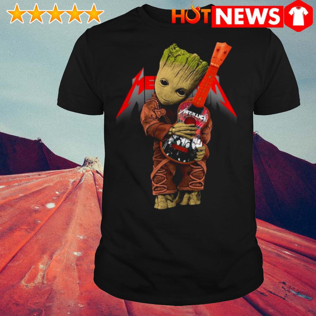 Baby Groot hug Metallica Guitar shirt