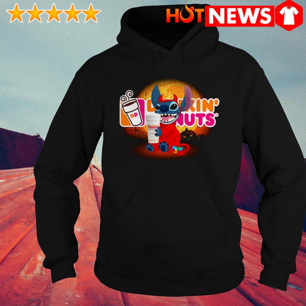 Disney Stitch loves Dunkin' Donuts Hoodie