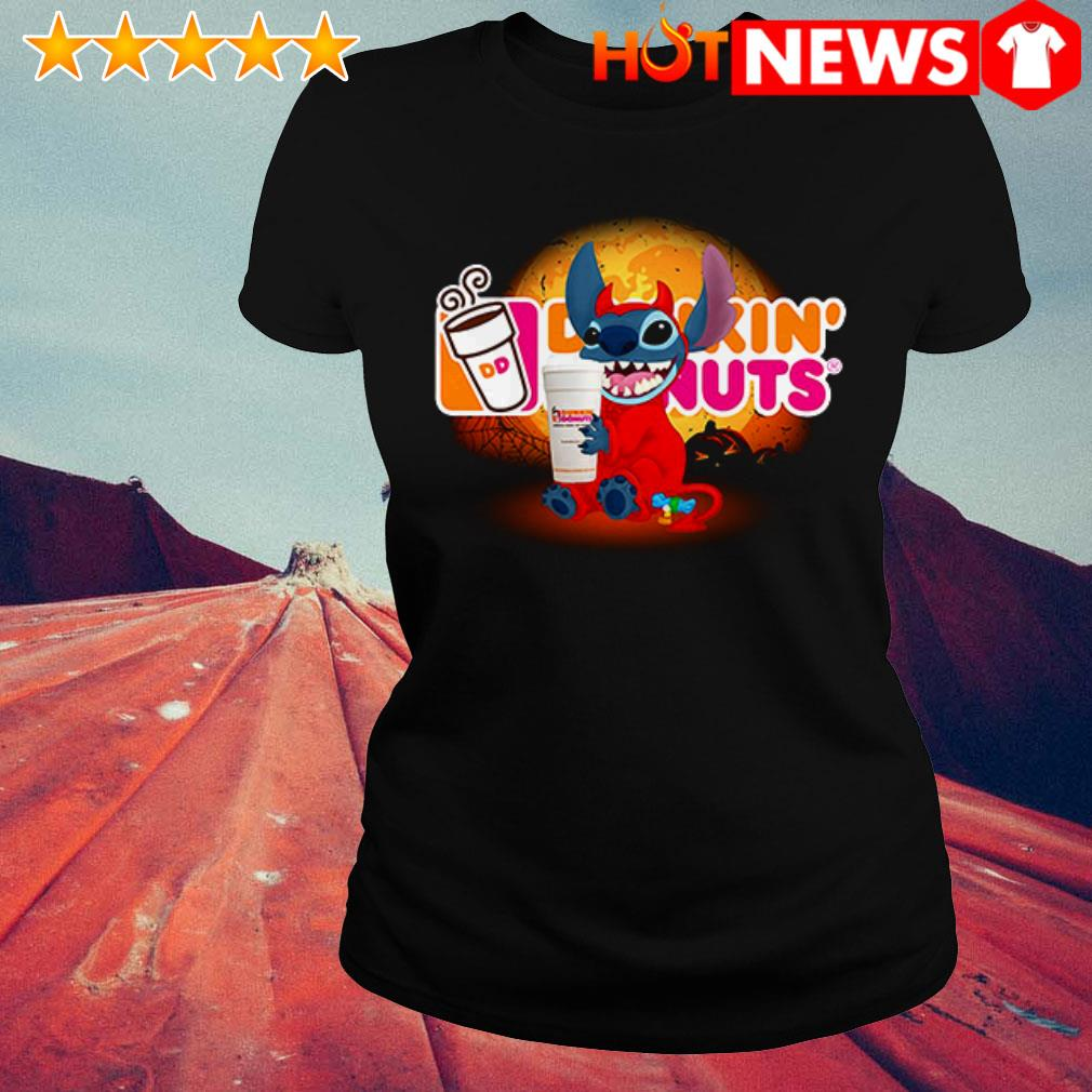 Disney Stitch loves Dunkin' Donuts Ladies Tee