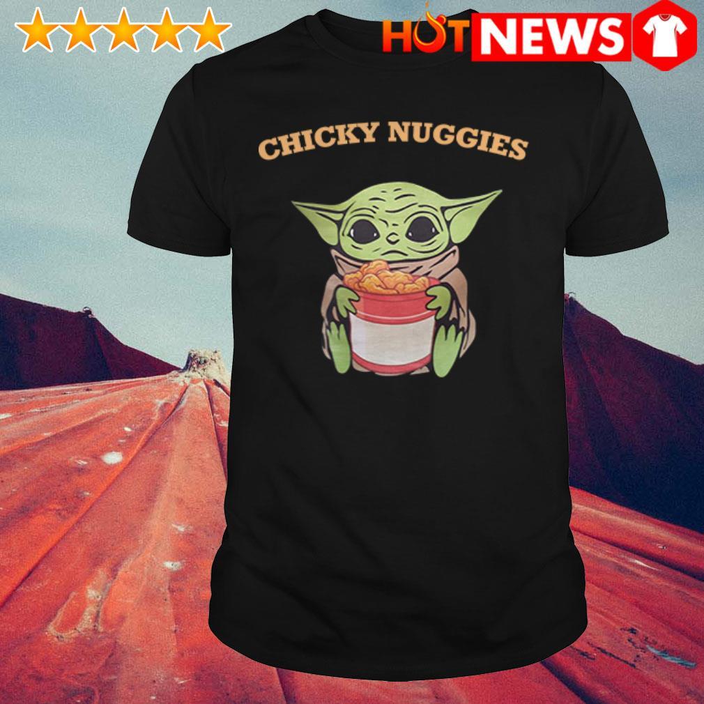The Mandalorian baby Yoda hug Chicky Nuggies shirt