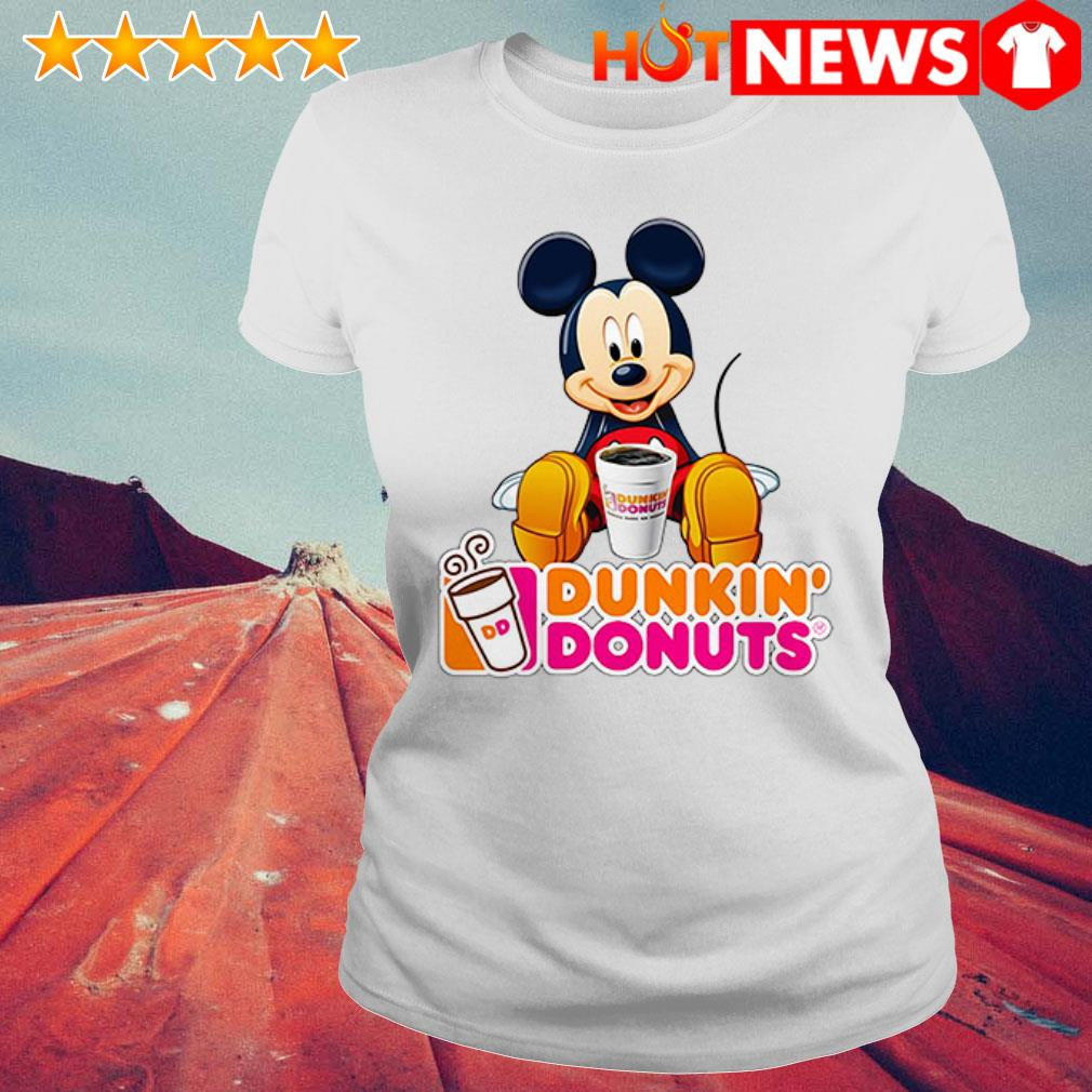 Mickey Mouse like drink Dunkin' Donuts Ladies Tee