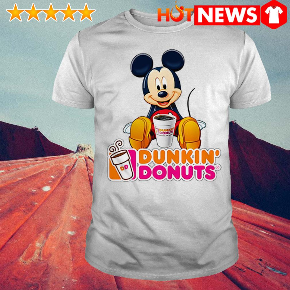Mickey Mouse like drink Dunkin' Donuts shirt