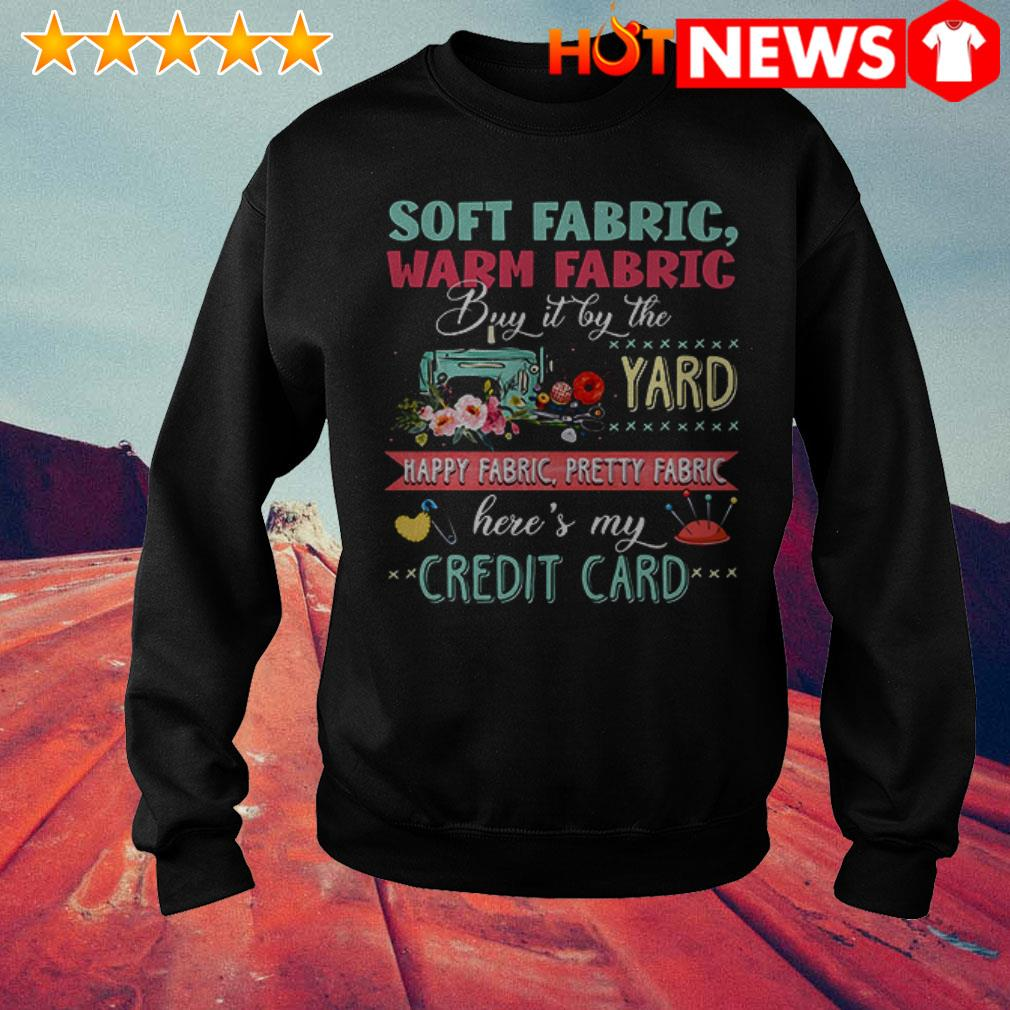 Soft fabric warm fabric buy it by the yard happy fabric Sweater