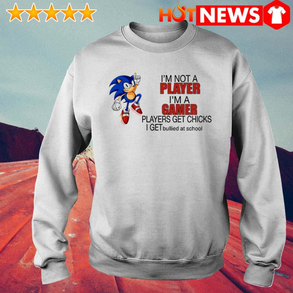 Sonic I'm a gamer players get chicks I get bullied at school Sweater