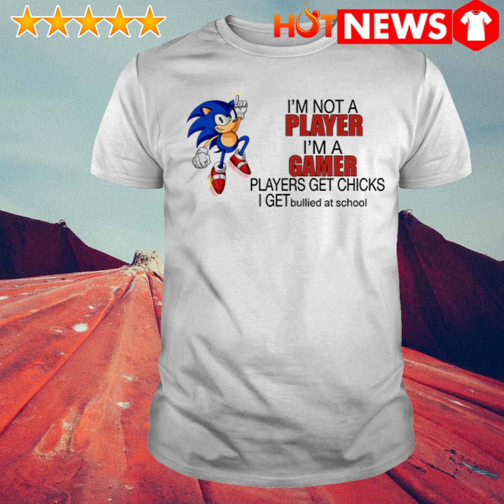 Sonic I'm a gamer players get chicks I get bullied at school shirt